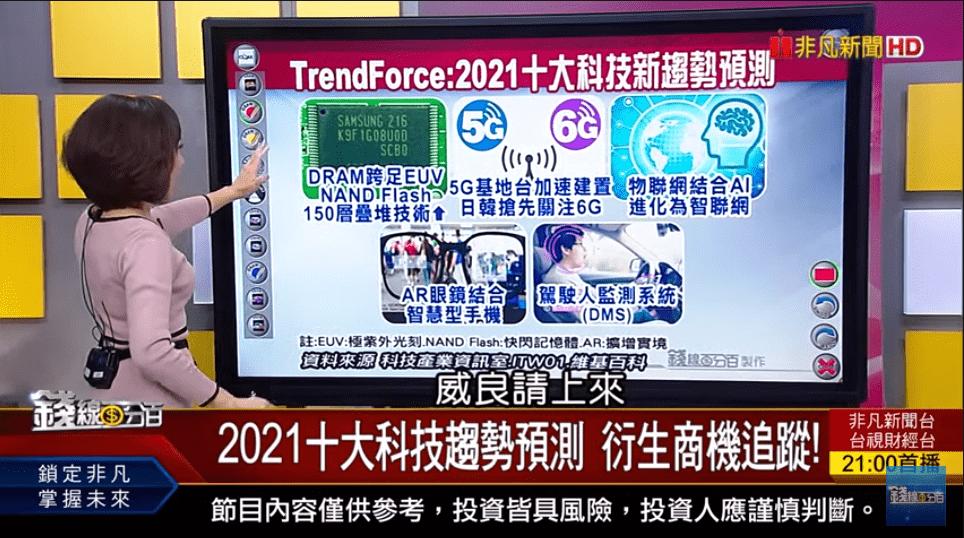 2021十大科技趨勢預測 衍生商機追蹤!