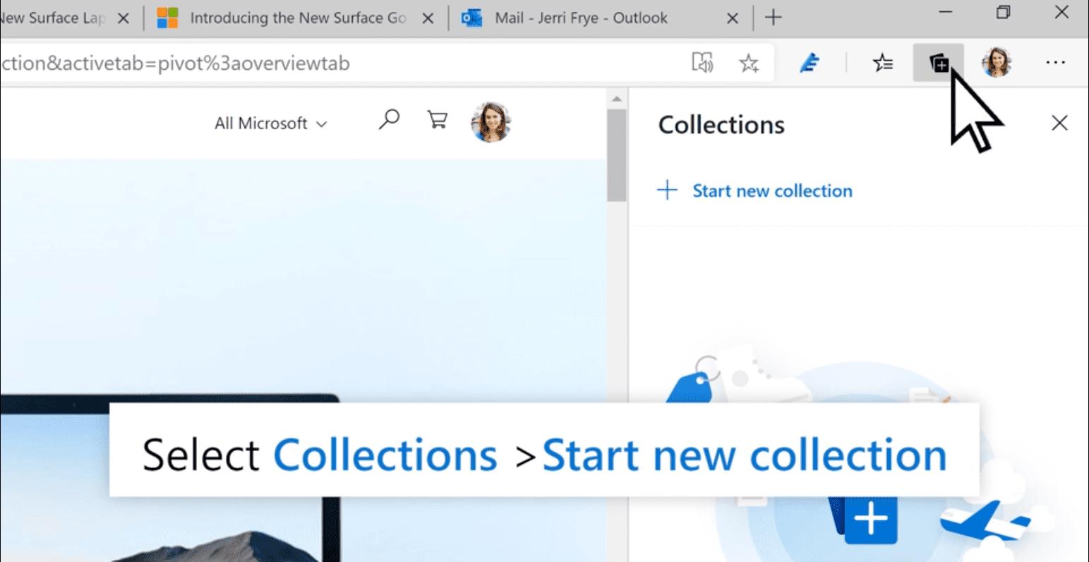 善用 Microsoft Edge 中〈集錦〉的力量 協助您整理想法