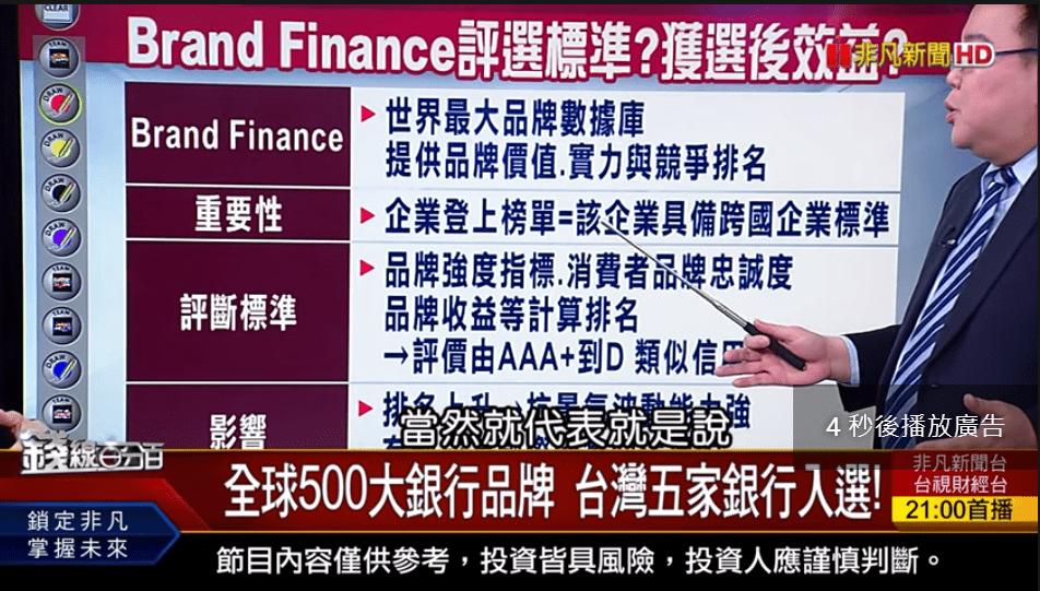 全球百大創新機構 全球500大銀行品牌 台灣共十企業機構入選!