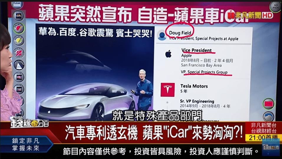 蘋果iCar來勢洶洶 汽車專利透玄機?! 電動車之爭鹿死誰手?